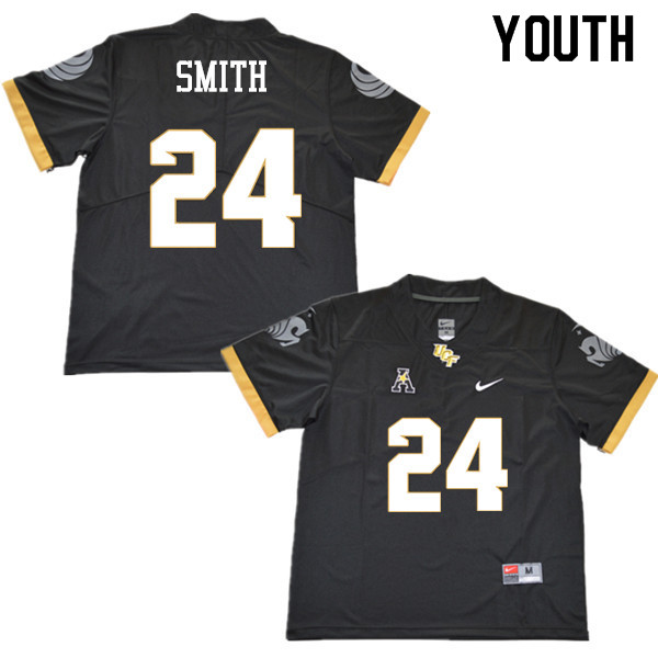 Youth #24 Kevin Smith UCF Knights College Football Jerseys Sale-Black