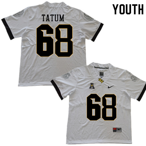 Youth #68 Marcus Tatum UCF Knights College Football Jerseys Sale-White
