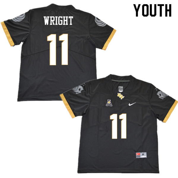 Youth #11 Matthew Wright UCF Knights College Football Jerseys Sale-Black