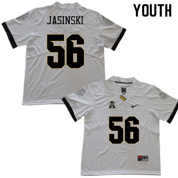 Youth #56 Pat Jasinski UCF Knights College Football Jerseys Sale-White
