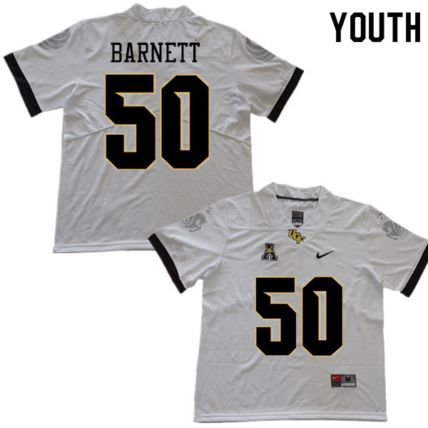 Youth #50 Patrick Barnett UCF Knights College Football Jerseys Sale-White