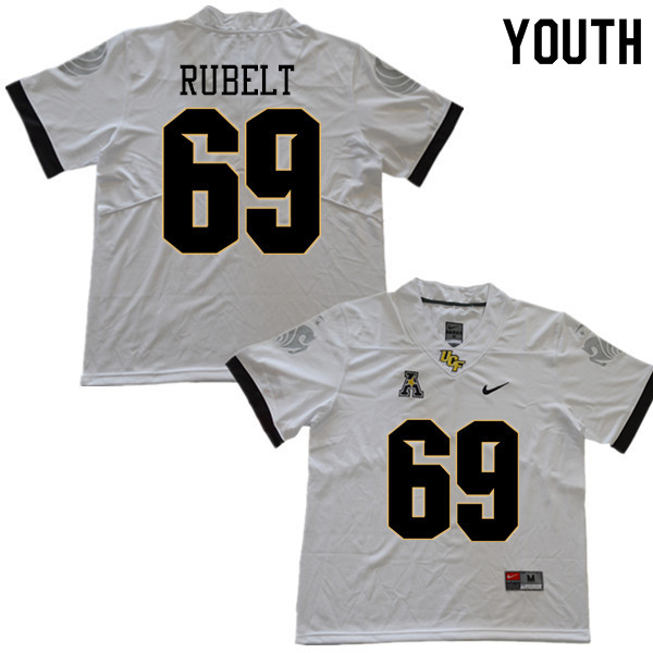 Youth #69 Paul Rubelt UCF Knights College Football Jerseys Sale-White