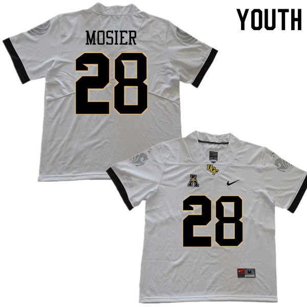 Youth #28 Quade Mosier UCF Knights College Football Jerseys Sale-White