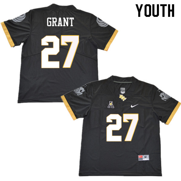 Youth #27 Richie Grant UCF Knights College Football Jerseys Sale-Black