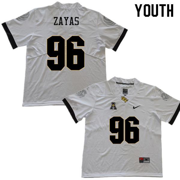 Youth #96 Stephon Zayas UCF Knights College Football Jerseys Sale-White