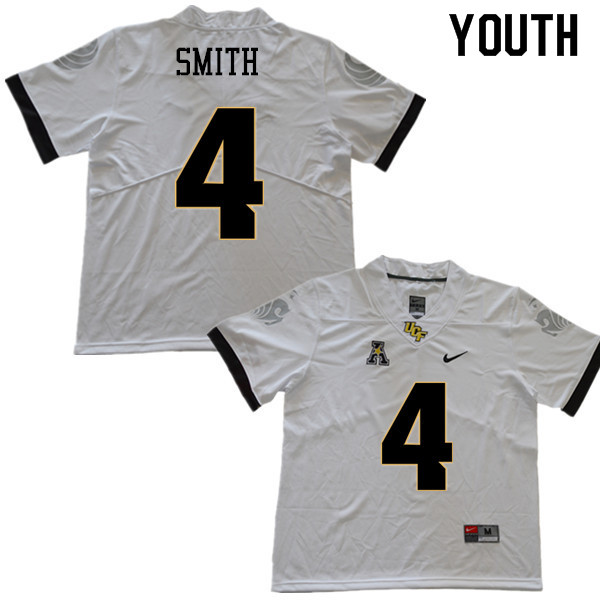 Youth #4 Tre'Quan Smith UCF Knights College Football Jerseys Sale-White