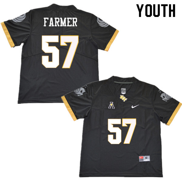 Youth #57 Tye Farmer UCF Knights College Football Jerseys Sale-Black