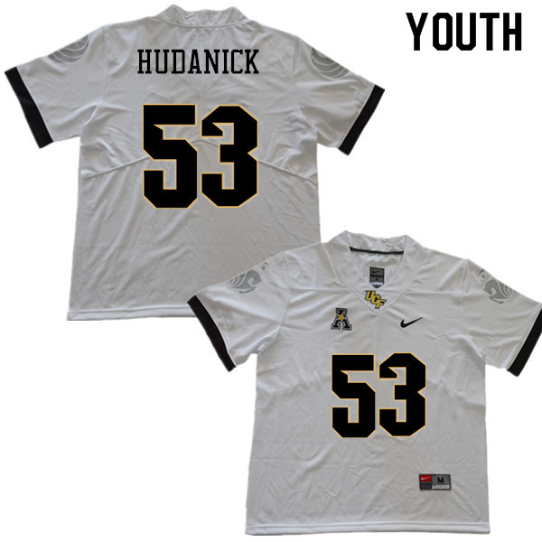 Youth #53 Tyler Hudanick UCF Knights College Football Jerseys Sale-White