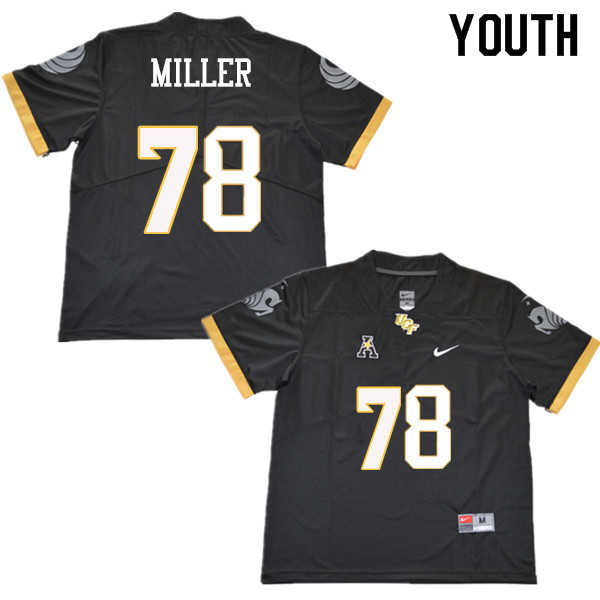 Youth #78 Wyatt Miller UCF Knights College Football Jerseys Sale-Black