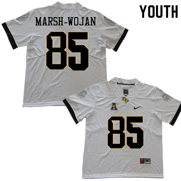Youth #85 Zach Marsh-Wojan UCF Knights College Football Jerseys Sale-White