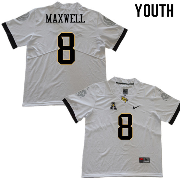 Youth #8 Zamari Maxwell UCF Knights College Football Jerseys Sale-White